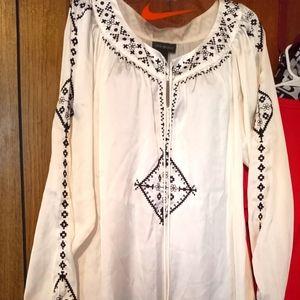 Lane Bryant silk midi dress size 14/16 nnt